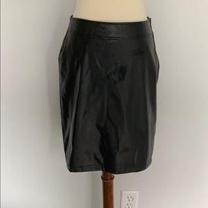 Xhilaration  Black Faux Leather Skirt Size 5